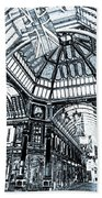 Leadenhall Market London Beach Towel