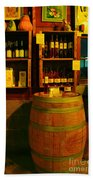 A Barrel And Wine Beach Towel by Jeff Swan