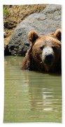 A Bear's Hot Tub Beach Towel