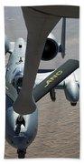 A Boom Operator Refuels An A-10 Beach Towel by Stocktrek Images