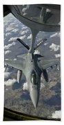 A Chilean Air Force F-16 Refuels Beach Towel