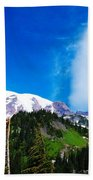 A Cloud Near Mt Rainer  Beach Towel