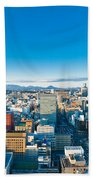 A Cold Sunny Day In Sendai Japan Beach Towel