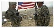A Commander Re-enlists Master Sergeant Beach Towel