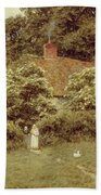 A Cottage At Farringford Isle Of Wight Beach Towel