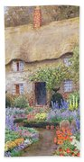 A Cottage Garden In Full Bloom Beach Towel