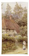 A Cottage Near Haslemere Beach Towel