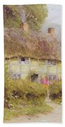 A Country Cottage Beach Towel by Helen Allingham