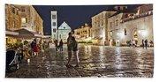 A Croatian Night Beach Sheet