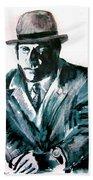 A Dapper Brit-portrait Of Ron Moody Beach Towel