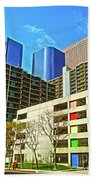 A Different Perspective On Downtown Los Angeles I Beach Towel