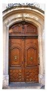 A Door In Arles Beach Towel