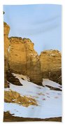 A Dusting On Monument Rocks Beach Towel