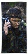 A Dutch Patrol Commander Communicates Beach Towel
