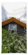 A Flowery House In Norway Beach Towel