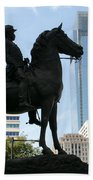 A General And His Horse In Philly Beach Towel