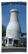 A Giant Milk Bottle In Spokane Beach Towel