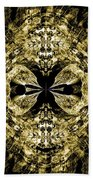 A Gothic Guise Of Gold Beach Towel