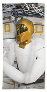A Humanoid Robot In The Destiny Beach Towel by Stocktrek Images