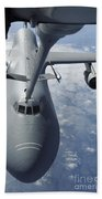 A Kc-10 Extender Prepares To Refuel Beach Towel by Stocktrek Images