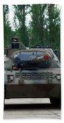 A Leopard 1a5 Mbt Of The Belgian Army Beach Towel by Luc De Jaeger