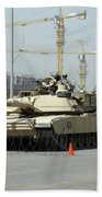 A M1 Abram Sits Out Front Of The New Beach Towel