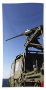 A Machine Gunner Mounts A M-2 Beach Towel by Stocktrek Images