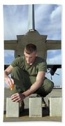 A Marine Replaces Flares In Flare Beach Towel