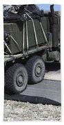 A Medium Tactical Vehicle Replenishment Beach Towel