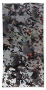 A Mob Of Red-winged Blackbirds Beach Towel