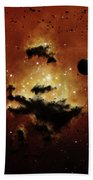 A Nebula Evaporates In The Far Distance Beach Towel by Brian Christensen
