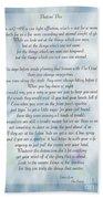 A Note Form The Pastors' Pen Beach Towel