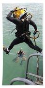 A Photographer Documents A Navy Diver Beach Towel