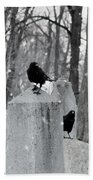 A Quiet Winter Day At The Graveyard Beach Towel