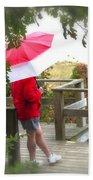 A Rainy Summer's Day Beach Towel