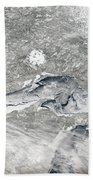 A Relatively Rare Blanket Of Ice Rests Beach Towel by Stocktrek Images