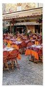 A Restaurant In Sarlat France Beach Towel