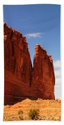 A Rock At Arches Beach Towel