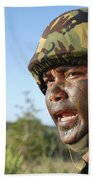 A Royal Brunei Land Force Soldier Beach Towel by Stocktrek Images