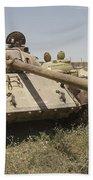 A Russian T-55 Main Battle Tank Beach Towel