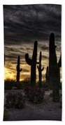 A Saguaro Sunrise  Beach Towel