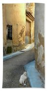A Sidestreet In Provence Beach Towel