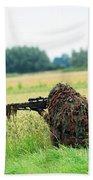 A Sniper Unit Of The Paracommandos Beach Towel by Luc De Jaeger