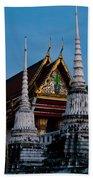 A Temple In A Wat Monestry In Tahiland Beach Towel