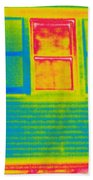A Thermogram Of A Window Beach Towel
