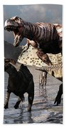 A Tyrannosaurus Rex Moves Beach Towel by Mark Stevenson