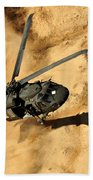 A Uh-60 Black Hawk Helicopter Comes Beach Towel