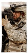 A U.s. Air Force Combat Cameraman Beach Towel by Stocktrek Images
