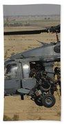 A U.s. Air Force Hh-60 Pavehawk Flies Beach Towel