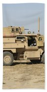 A U.s. Army Cougar Mrap Vehicle Beach Towel